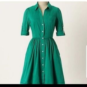 Moulinette Soeurs Green Shirtdress